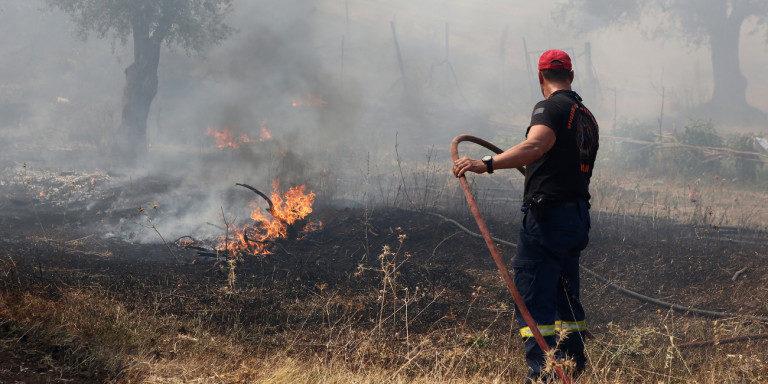 Κρήτη: Υπό έλεγχο η φωτιά στον Πλακιά – Συνεχείς οι αναζωπυρώσεις