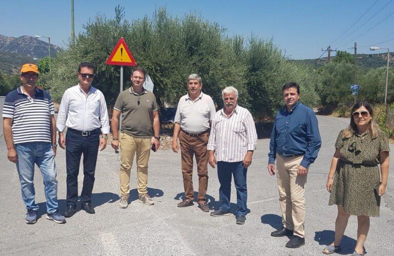 Τα οδικά έργα που εκτελούνται στο Δήμο Χερσονήσου επισκέφθηκε ο Ν. Συριγωνάκης