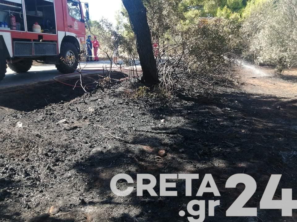 Νέα φωτιά στην Κρήτη – Επί ποδός η Πυροσβεστική (εικόνες)