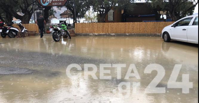 Πλημμύρα στα νότια της Κρήτης – Εικόνες του Creta24