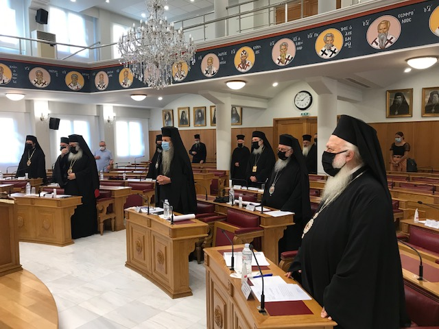 Κορωνοϊός: Με μάσκες η πρώτη Συνεδρία της Διαρκούς Ιεράς Συνόδου για το νέο εκκλησιαστικό έτος (pics)