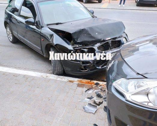 Κρήτη: Έχασε τον έλεγχο του αυτοκινήτου και προκάλεσε καραμπόλα (εικόνες)