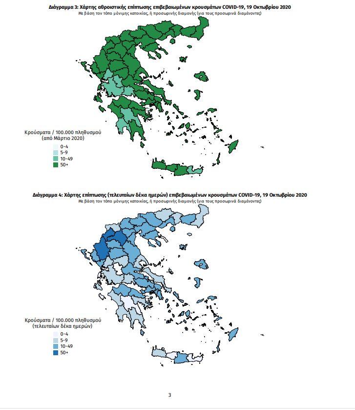 Ο χάρτης του κορωνοϊού στην Ελλάδα: 175 κρούσματα σε Αττική, 49 σε Θεσσαλονίκη, 28 στις Σέρρες