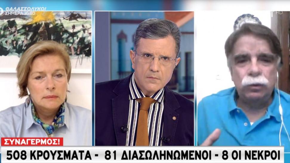 Βατόπουλος-Γκάγκα σε ΣΚΑΪ: Πρέπει να φερόμαστε όλοι σα μεταδοτικοί και να φοράμε σωστά τη μάσκα