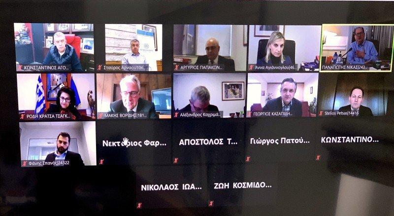 Αρναουτάκης: Διαδικτυακή σύσκεψη με τον Μάκη Βορίδη