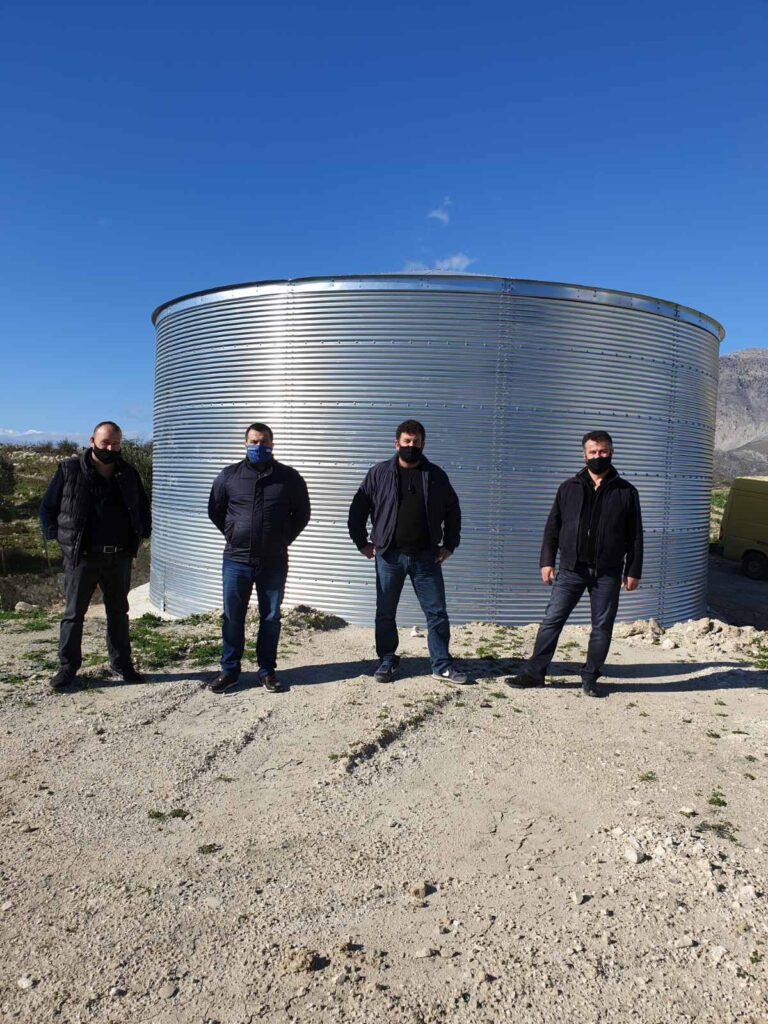 Ηράκλειο: Νέα δεξαμενή ύδρευσης στην Αγία Βαρβάρα