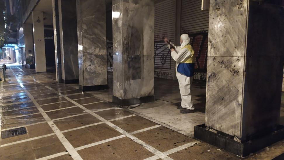 Με 40 επιχειρήσεις αντί-γκράφιτι καθάρισαν 19.000 τ.μ. της Αθήνας (ΦΩΤΟ)