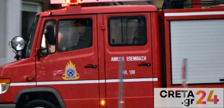 Ηράκλειο: «Συναγερμός» στην Πυροσβεστική για φωτιά σε πολυκατοικία