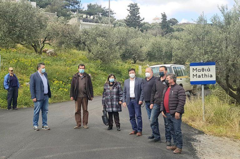 Προχωρούν οι εργασίες στο δρόμο Καστέλι-Μαθιά-Αμαριανό